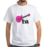 Guitar - Eva White T-Shirt