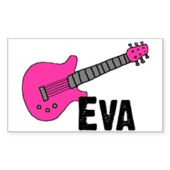 Guitar - Eva Rectangle Decal