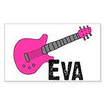 Guitar - Eva Rectangle Sticker