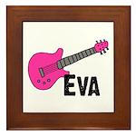 Guitar - Eva Framed Tile