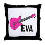 Guitar - Eva Throw Pillow