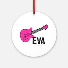 Guitar - Eva Ornament (Round)