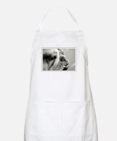 English Bulldog Closeup BBQ Apron