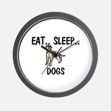 Eat ... Sleep ... DOGS Wall Clock