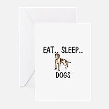 Eat ... Sleep ... DOGS Greeting Cards (Pk of 10)