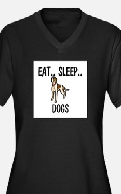 Eat ... Sleep ... DOGS Women's Plus Size V-Neck Da