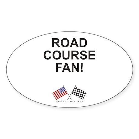 Road Course Fan Oval Sticker