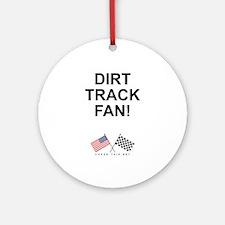 Dirt Track Fan Ornament (Round)