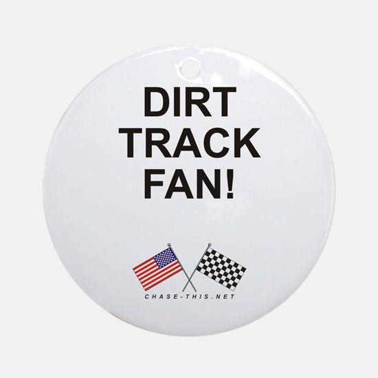 Dirt Track Fan Ornament (Round)
