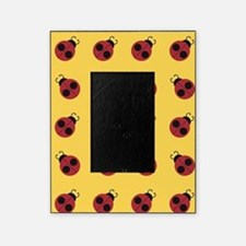Cute Red Ladybug Yellow Pattern Picture Frame