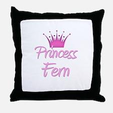 Princess Fern Throw Pillow