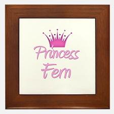 Princess Fern Framed Tile