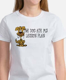 My Dog Ate My Lesson Plan Women's T-Shirt