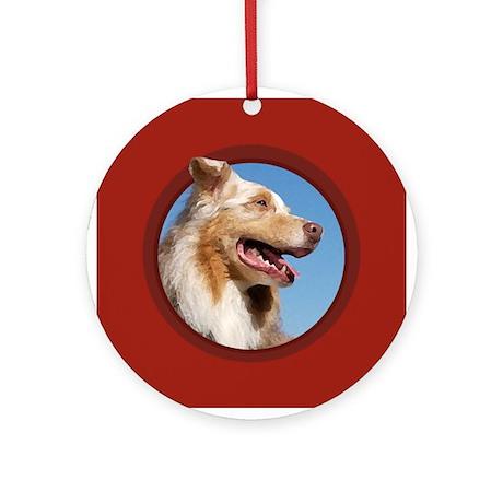 Australian Shepherd Red Round Ornament