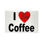 I Love Coffee Rectangle Magnet (10 pack)