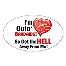 Outa' Bandaids 2 Oval Decal