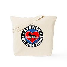 A Belgian Malinois' Heart Tote Bag