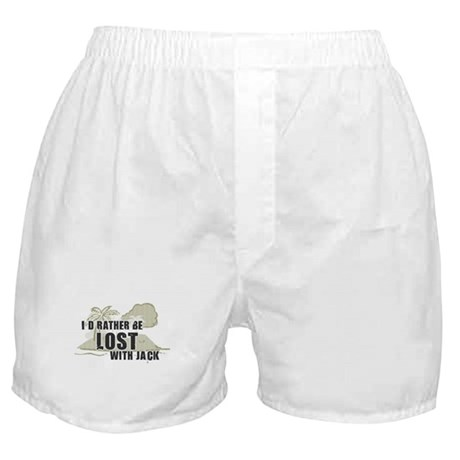 I'd Rather be Lost with Jack Boxer Shorts