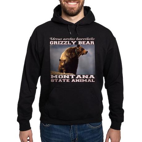 Grizzly - Montana State Animal Hoodie (dark)