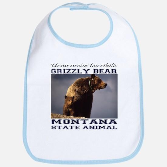 Grizzly - Montana State Animal Bib