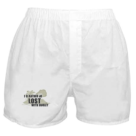I'd Rather be Lost with Hurley Boxer Shorts