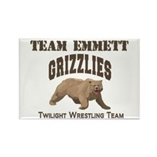 Team Grizzly Rectangle Magnet