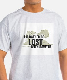 I'd Rather be Lost... Sawyer Ash Grey T-Shirt