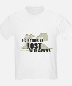 I'd Rather be Lost... Sawyer Kids T-Shirt
