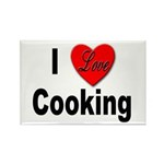 I Love Cooking Rectangle Magnet (10 pack)