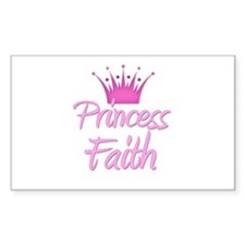 Princess Faith Rectangle Decal