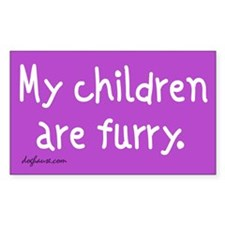 Furry Childen Rectangle Decal