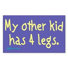 4-Legged Kid Rectangle Decal