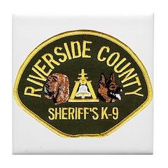 Riverside Sheriff K9 Tile Coaster