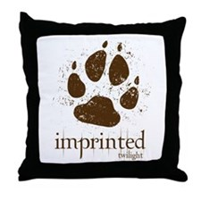Werewolf Imprinted Twilight Throw Pillow