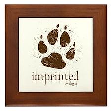 Werewolf Imprinted Twilight Framed Tile