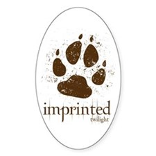 Werewolf Imprinted Twilight Oval Decal