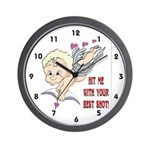 Valentine's Cupid Wall Clock