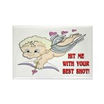 Valentine's Cupid Rectangle Magnet