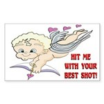 Valentine's Cupid Rectangle Sticker