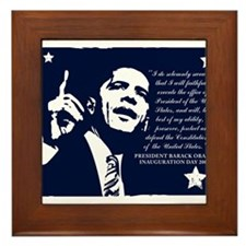 Obama Inaugural Oath Framed Tile