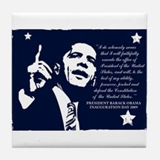 Obama Inaugural Oath Tile Coaster