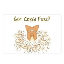 Lt Red White Pem Got Fuzz? Postcards (Package of 8