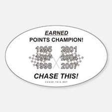 EARNED Points Champion Oval Decal