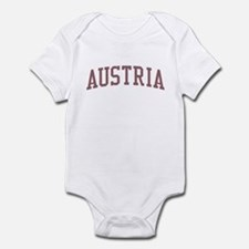 Austria Red Infant Bodysuit