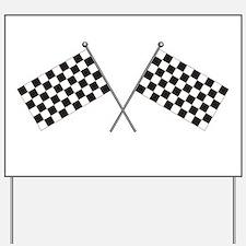 Checkered Flag Yard Sign