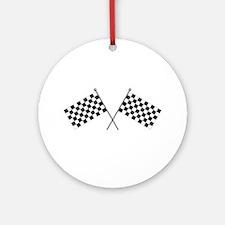 Checkered Flag Ornament (Round)