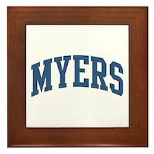 Myers Collegiate Style Name Framed Tile