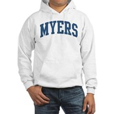 Myers Collegiate Style Name Hoodie