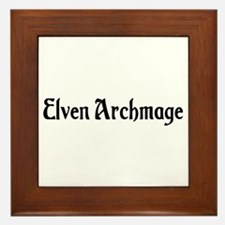 Elven Archmage Framed Tile