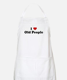 I Love Old People BBQ Apron